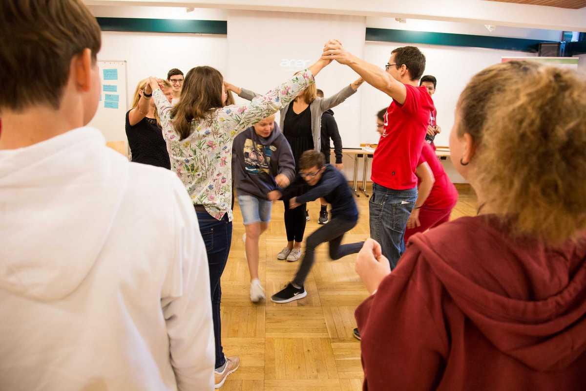 Schüler bei aktiver Übung