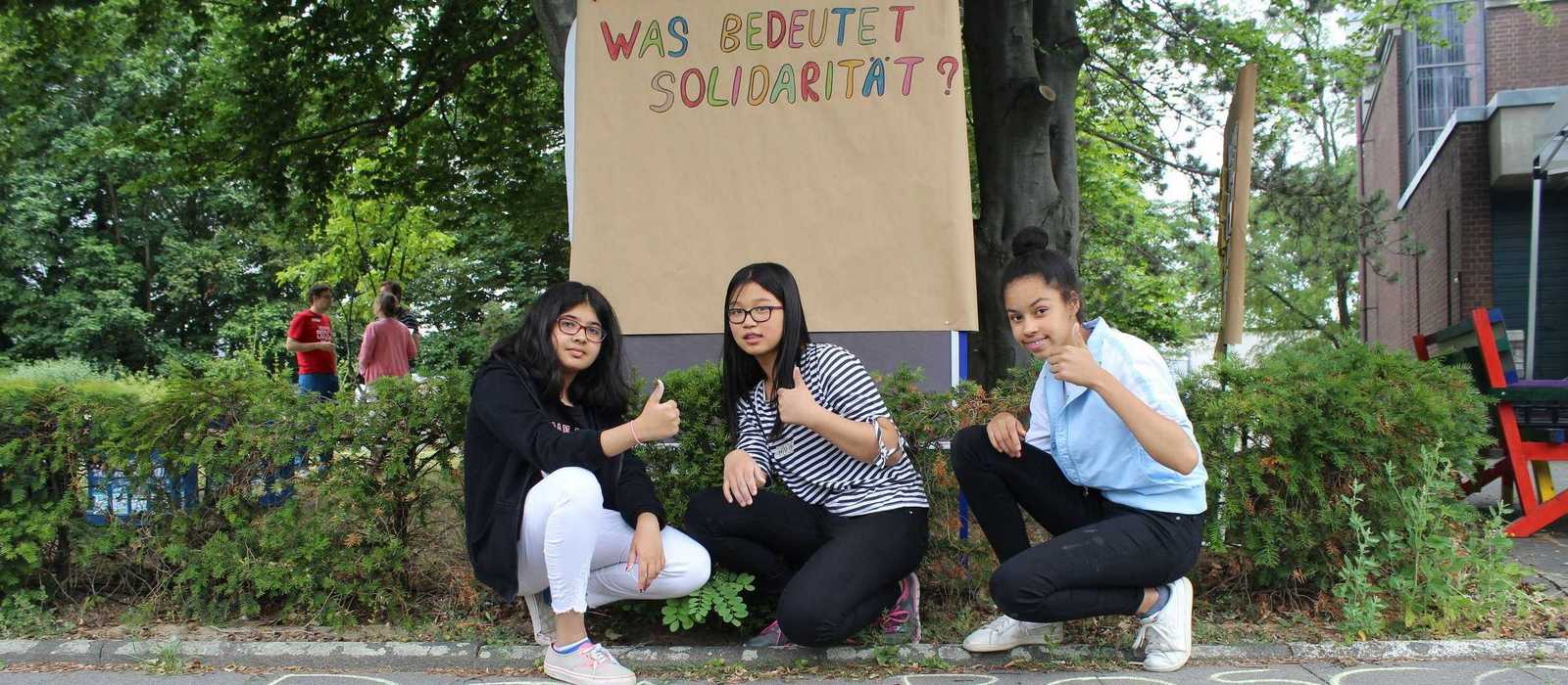 Schüler fragen nach Solidarität